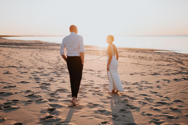fotograf ślubny sesja nad morzem